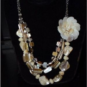 Chunky Designer Abalone MOP shell Necklace
